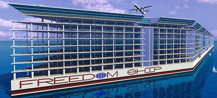 Сверхгигантский лайнер Freedom Ship: утопический проект самоходного острова