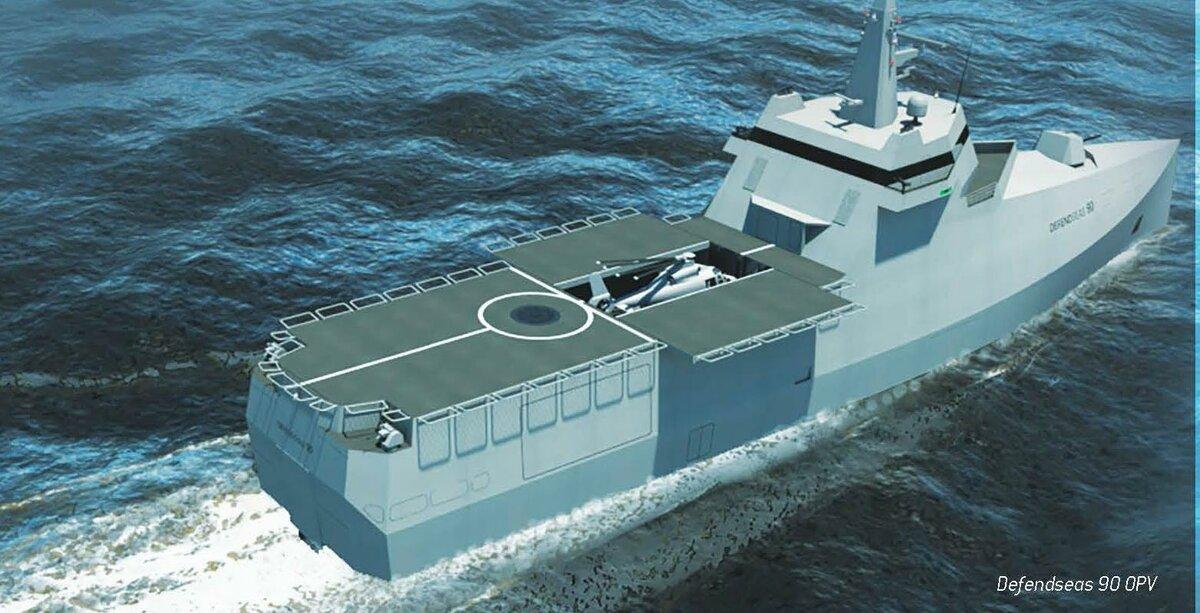 Defendseas: французский стеллс-концепт универсального десантного фрегата