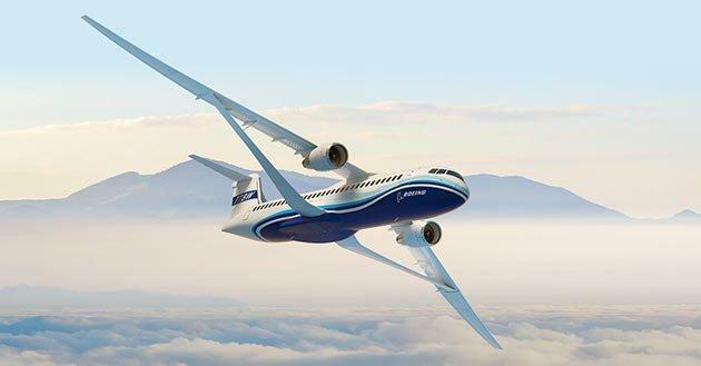Boeing представил концепцию легкого крыла для авиалайнеров