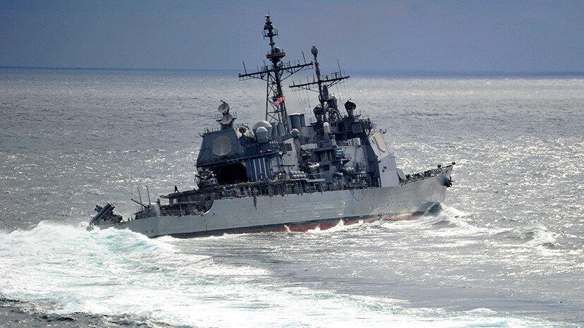 Американский крейсер опасно пересек курс российскому военному кораблю