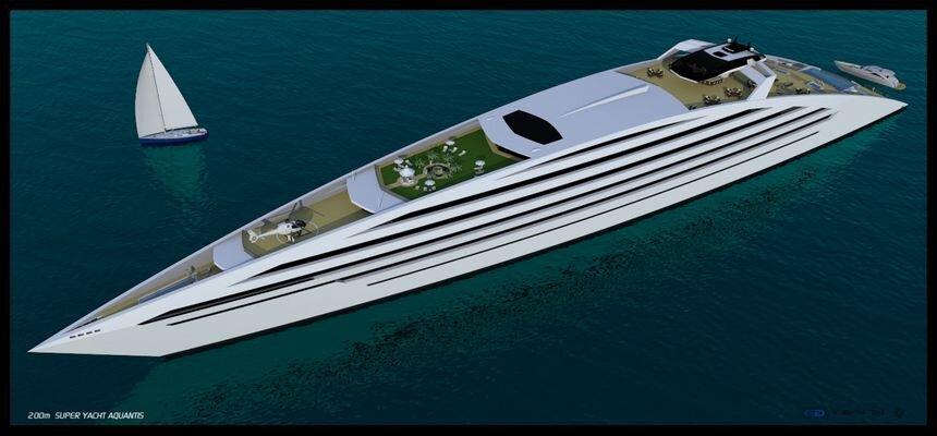 В США разработали 200-метровую супер-яхту для вечеринок