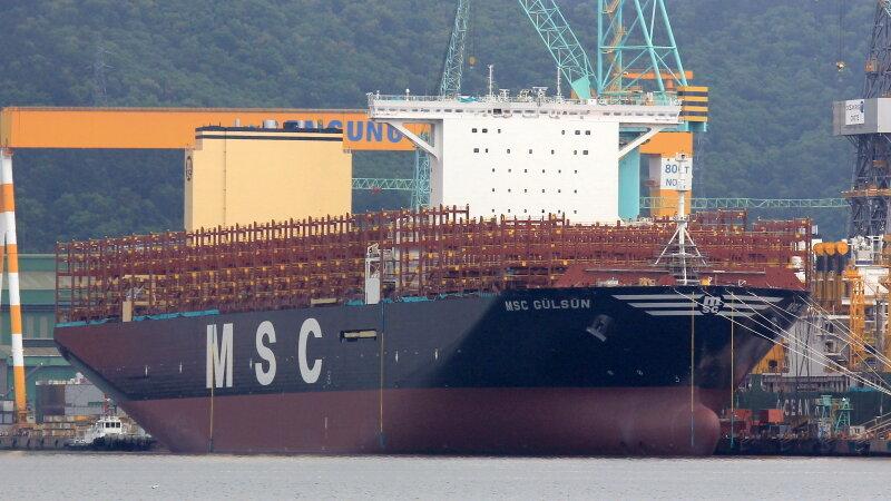 MSC Gulsun: крупнейший в мире контейнеровоз готовится к первому рейсу