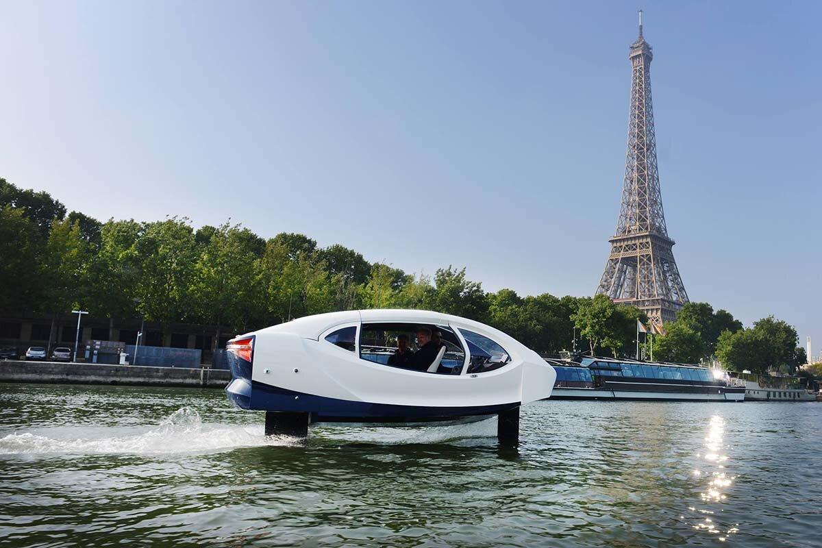 Водное такси SeaBubbles: судно на подводных крыльях, не создающее волны