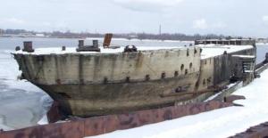 корабль из бетона