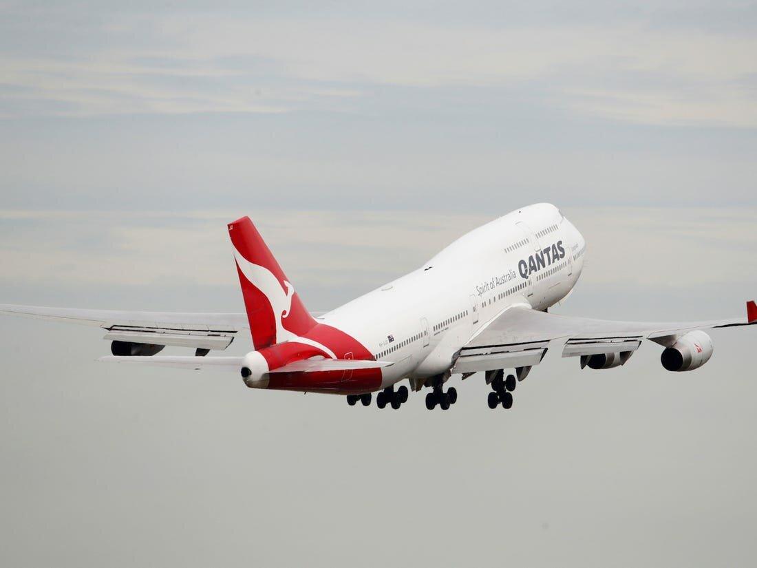 Qantas креативно попрощалась с лайнером Boeing 747