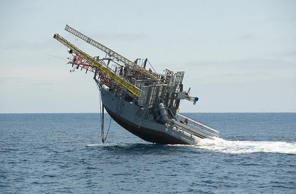 RV Flip – океанографическое судно, с особенной конструкцией