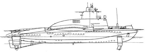 Малый погружающийся ракетный корабль проекта 1231
