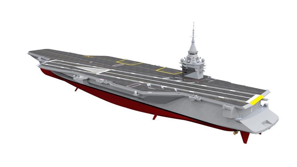 3D изображение авианосца проекта PANG