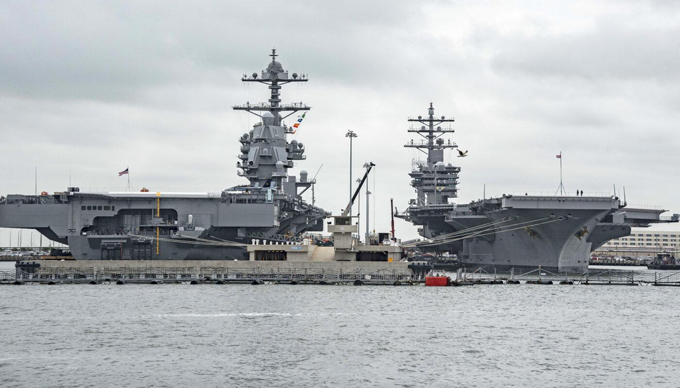 Авианосцы ВМФ США USS Gerald R. Ford и USS Dwight D. Eisenhower