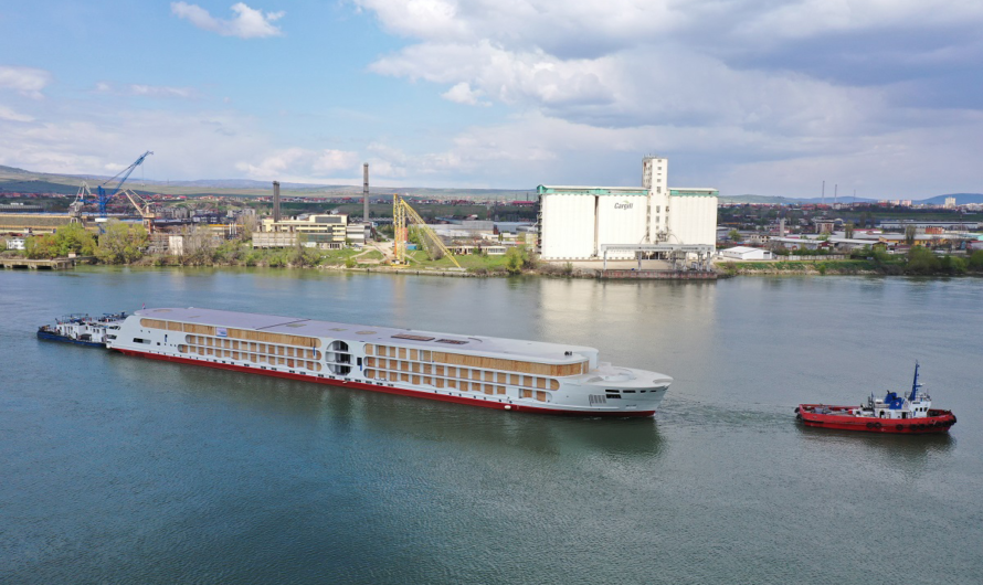 Европейская верфь спустила на воду крупнейшее пассажирское речное судно для Рейна
