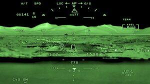 FalconEye - проекционный экран в кабине пилотов Dassault Falcon 10X //Фото: Dassault Aviation