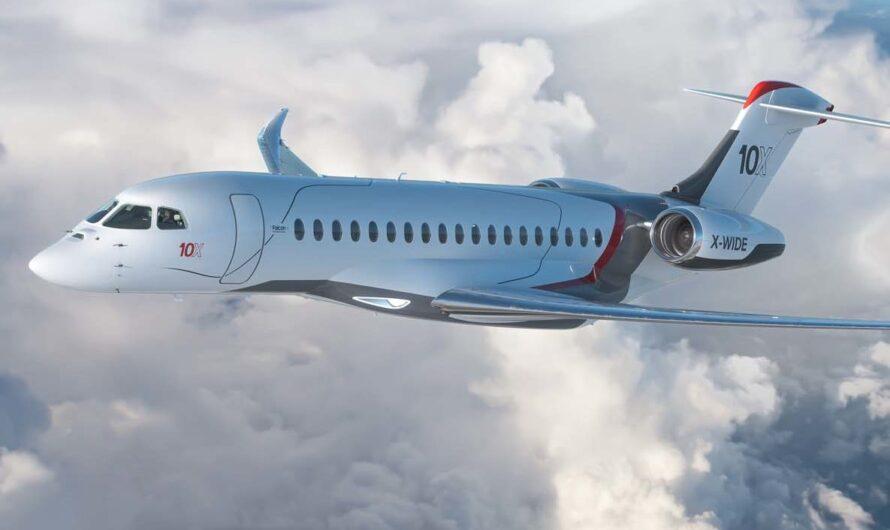 Бизнес-джет Falcon 10X: самый инновационный и быстрый частный самолет