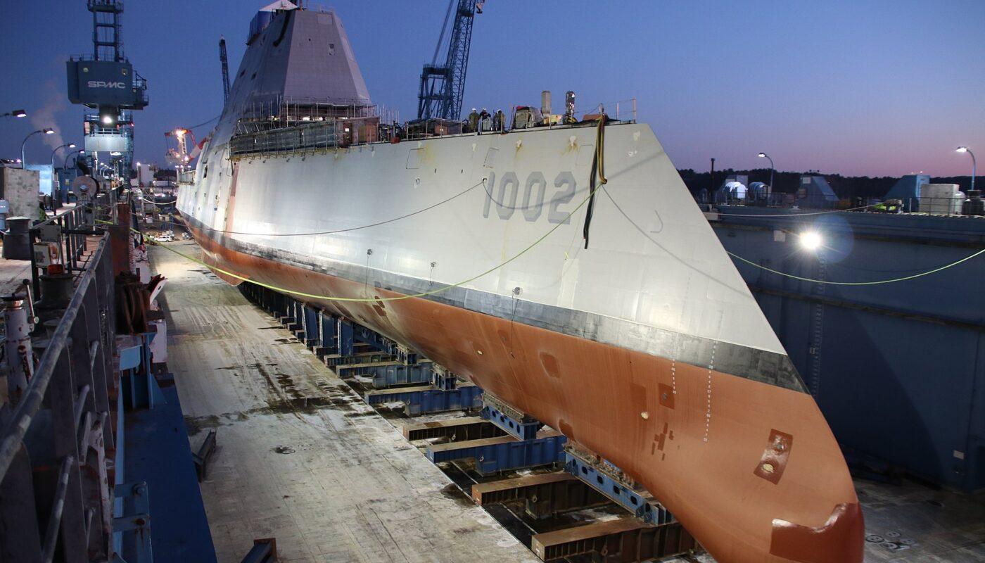 Строительство эсминца DD 1002 USS Lyndon B. Jonson