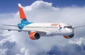 Airbus A220-300 в ливрее авиакомпании Азимут