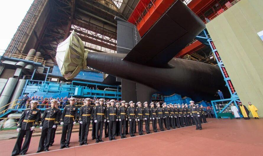 В России спущена на воду третья атомная подводная лодка проекта 885М