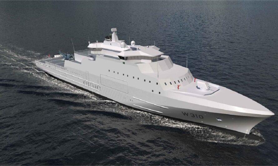 Спущен на воду первый из трех норвежских кораблей береговой обороны типа Jan Mayen