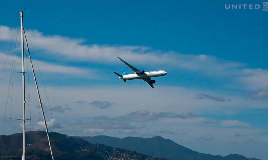 Полет Boeing 777-300ER над Сан-Франциско: видео